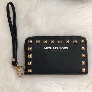Michael Kors Bags - Like New Michael Kors Studded Wristlet